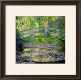 Estanque de nenúfares con puente japonés, 1899 Lámina giclée enmarcada por Claude Monet