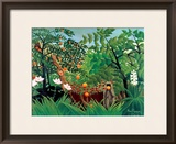 Exotic Landscape, 1910 Framed Giclee Print by Henri Rousseau