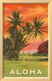 Aloha: Palm Trees Framed Giclee Print