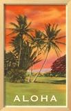 Aloha: Palm Trees Framed Giclee Print