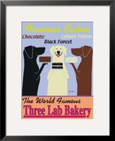 Three Lab Bakery Framed Giclee Print by Ken Bailey