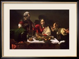 The Supper at Emmaus, 1601 Estampe encadrée par Caravaggio