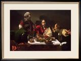 Das Abendmahl in Emmaus, 1601 Gerahmter Giclée-Druck von  Caravaggio