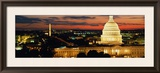 City Lit Up at Dusk, Washington D.C., USA Framed Photographic Print by  Panoramic Images