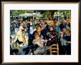 Ball at the Moulin De La Galette, 1876 Gerahmter Giclée-Druck von Pierre-Auguste Renoir