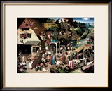 The Blue Cloak, 1559 Framed Giclee Print by Pieter Bruegel the Elder