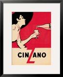 Cinzano Framed Giclee Print