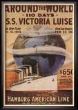 Hamburg American Line, Magazine Plate, USA, 1912 Kunstdrucke