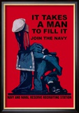 It Takes a Man to Fill It Affiches par Charles Stafford Duncan