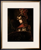 Pallas Athena Or, Armoured Figure, 1664-65 Framed Giclee Print by  Rembrandt van Rijn