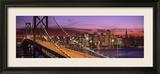 Bay Bridge Illuminated at Night, San Francisco, California, USA Gerahmter Fotografie-Druck von  Panoramic Images
