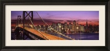 Bay Bridge Illuminated at Night, San Francisco, California, USA Framed Photographic Print by Panoramic Images
