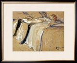 "Woman Lying on Her Back - Lassitude, Study for ""Elles"", 1896 Framed Giclee Print by Henri de Toulouse-Lautrec"