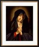 The Madonna in Sorrow Indrammet giclee-tryk af Giovanni Battista Salvi da Sassoferrato