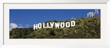 Hollywood Sign at Hollywood Hills, Los Angeles, California, USA Framed Photographic Print by  Panoramic Images