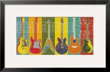 Guitar Hero Framed Giclee Print by M.J. Lew