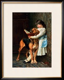 Naughty Boy or Compulsory Education Framed Giclee Print by Briton Rivi&#232;re