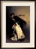 """Spanische Tänzer, Studie für """"El Jaleo"""", 1882 Gerahmter Giclée-Druck von John Singer Sargent"""