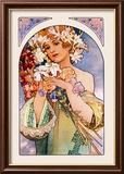 Flower Kunstdrucke von Alphonse Mucha