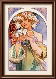 Flower Lminas por Alphonse Mucha