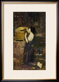 Pandora Framed Giclee Print by John William Waterhouse