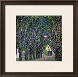 Tree-Lined Road Leading to the Manor House at Kammer, Upper Austria, 1912 Framed Giclee Print by Gustav Klimt