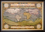 World Map Prints by Abraham Ortelius