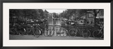 Bicycle Leaning Against a Metal Railing on a Bridge, Amsterdam, Netherlands Framed Photographic Print by  Panoramic Images