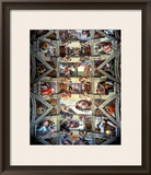 Sistine Chapel Ceiling and Lunettes, 1508-12 Framed Giclee Print by  Michelangelo Buonarroti