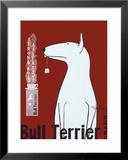 Bull Terrier Tee Gerahmter Giclée-Druck von Ken Bailey