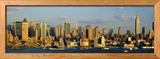 Hudson River, City Skyline, New York City, New York State, USA Photographie encadr&#233;e par Panoramic Images 