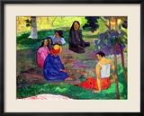 Les Parau Parau (The Gossipers), or Conversation, 1891 Gerahmter Giclée-Druck von Paul Gauguin