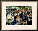 Ball at the Moulin De La Galette, 1876 Framed Giclee Print by Pierre-Auguste Renoir