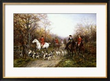 Going Through the Copse Gerahmter Giclée-Druck von Heywood Hardy
