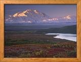 Parque Nacional de Denali cerca de Wonder Lake, Alaska, Estados Unidos Lámina fotográfica enmarcada por Charles Sleicher