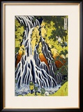 The Kirifuri Waterfall at Mt. Kurokami in Shimotsuke Province Framed Giclee Print by Katsushika Hokusai