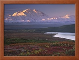 Denali National Park near Wonder Lake, Alaska, USA Framed Photographic Print by Charles Sleicher