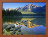 Pyramid Mt. at Sunrise, Canada Framed Photographic Print by Kevin Law