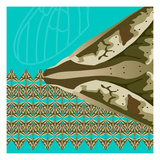 Turquoise Kai Giclee Print by Belen Mena