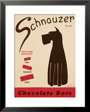 Schnauzer Bars Framed Giclee Print by Ken Bailey