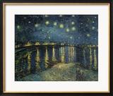 Starry Night Over the Rhone, 1888 Gerahmter Giclée-Druck von Vincent van Gogh