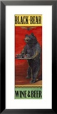 Black Bear Wine and Beer Gerahmter Gicl&#233;e-Druck von Penny Wagner