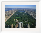 Aerial View of Central Park, NYC Framed Photographic Print by David Ball