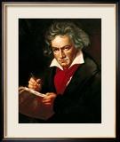 """Ludwig Van Beethoven (1770-1827) Composing His """"Missa Solemnis"""" Gerahmter Giclée-Druck von Joseph Karl Stieler"""