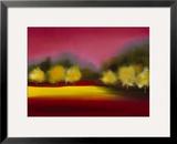 Raspberry Contemplation Framed Giclee Print by Bonita Williams Goldberg