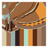 Chocolate Neapolitan Stripes Giclee Print by Belen Mena