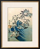 Waves and Birds, circa 1825 Framed Giclee Print by Katsushika Hokusai