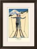 L'Hiver Framed Giclee Print by George Barbier