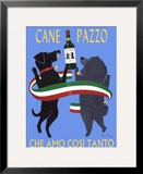 Cane Pazzo Framed Giclee Print by Ken Bailey