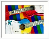 Locally-Crafted Guitars, Cabo San Lucas, Baja California Sur, Mexico Gerahmter Fotografie-Druck von Richard Cummins